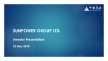 Investor Presentation - May 2018